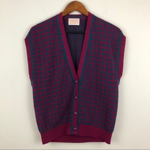 VTG Pendleton 100% Virgin Wool Button-up Vest